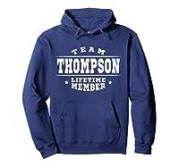 Team Thompson Lifetime Member Proud Family Surname Shirts Hoodie Navy