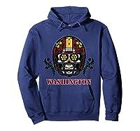 Washington Football Helmet Sugar Skull Day Of The Dead T Shirt Hoodie Navy