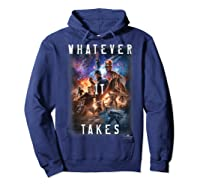 Marvel Avengers Endgame Movie Poster Whatever It Takes T-shirt Hoodie Navy