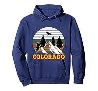 Vintage Outdoor Lovers Colorado Mountains Retro T-shirt Hoodie Navy