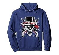 Guns N' Roses Top Hat Skull T-shirt Hoodie Navy
