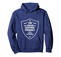 My Friend Is Proud 13b Military Army Cannon Crewmember Shirts Hoodie Navy
