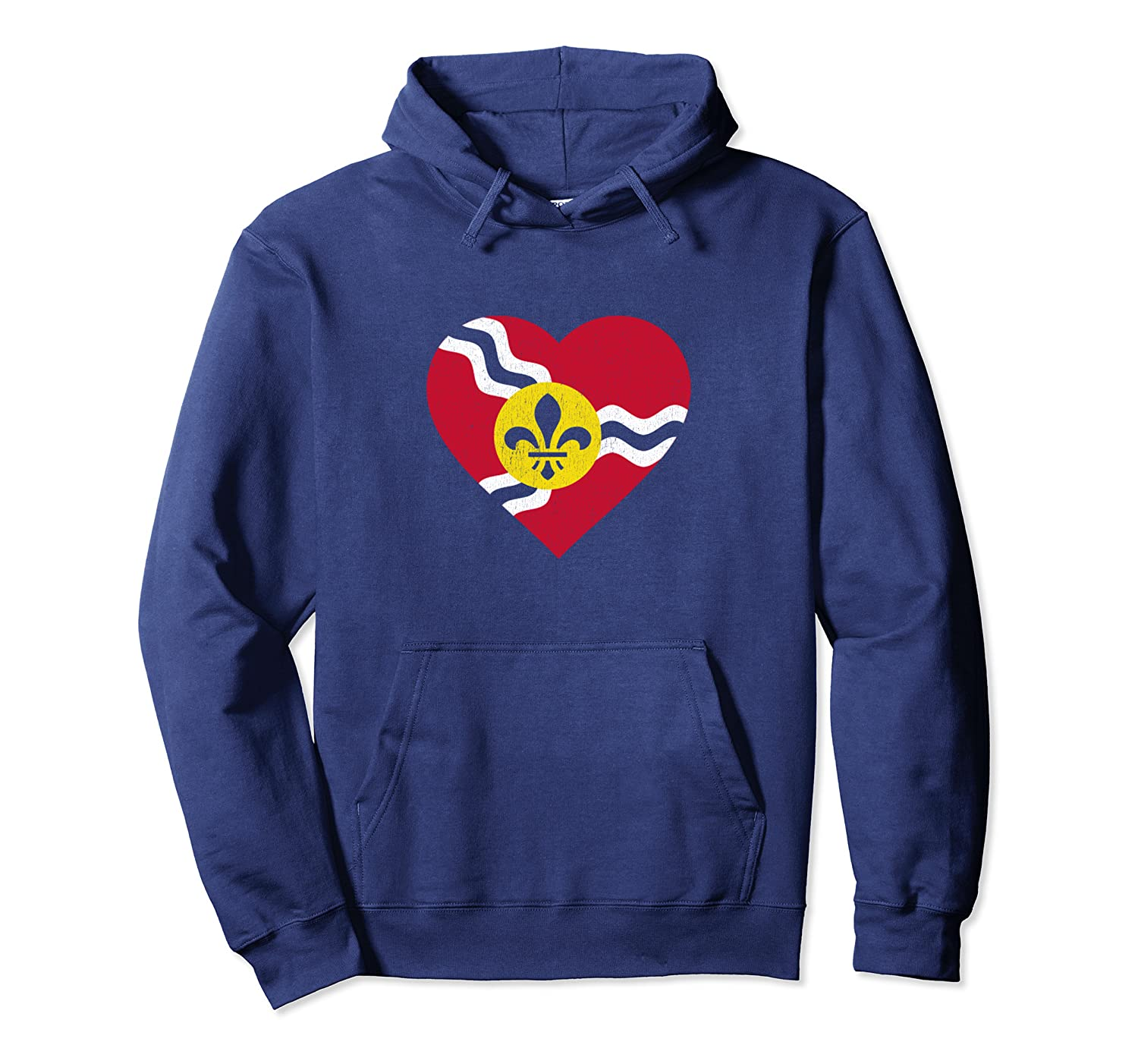 I Heart St. Louis Distressed Stl State Flag T-shirt Unisex Pullover Hoodie