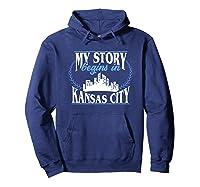 Kansas City Born In Kansas Shirts Hoodie Navy