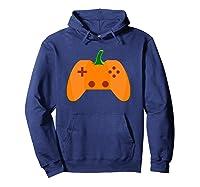 Halloween Video Game Pumpkin Funny Costume Gamer Shirts Hoodie Navy