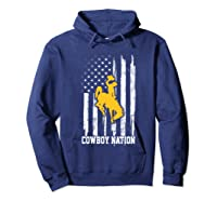 Wing Cow Nation Flag T Shirt Apparel Hoodie Navy