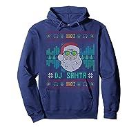 Christmas Santa Dj Shirts Hoodie Navy