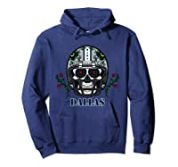 Dallas Football Helmet Sugar Skull Day Of The Dead T Shirt Hoodie Navy