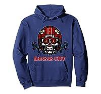 Kansas City Football Helmet Sugar Skull Day Of The Dead T Shirt Hoodie Navy