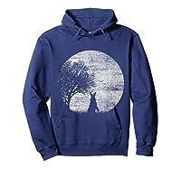 Nature Animal Gift Idea Easter Rabbit Moon Rabbit T Shirt Hoodie Navy