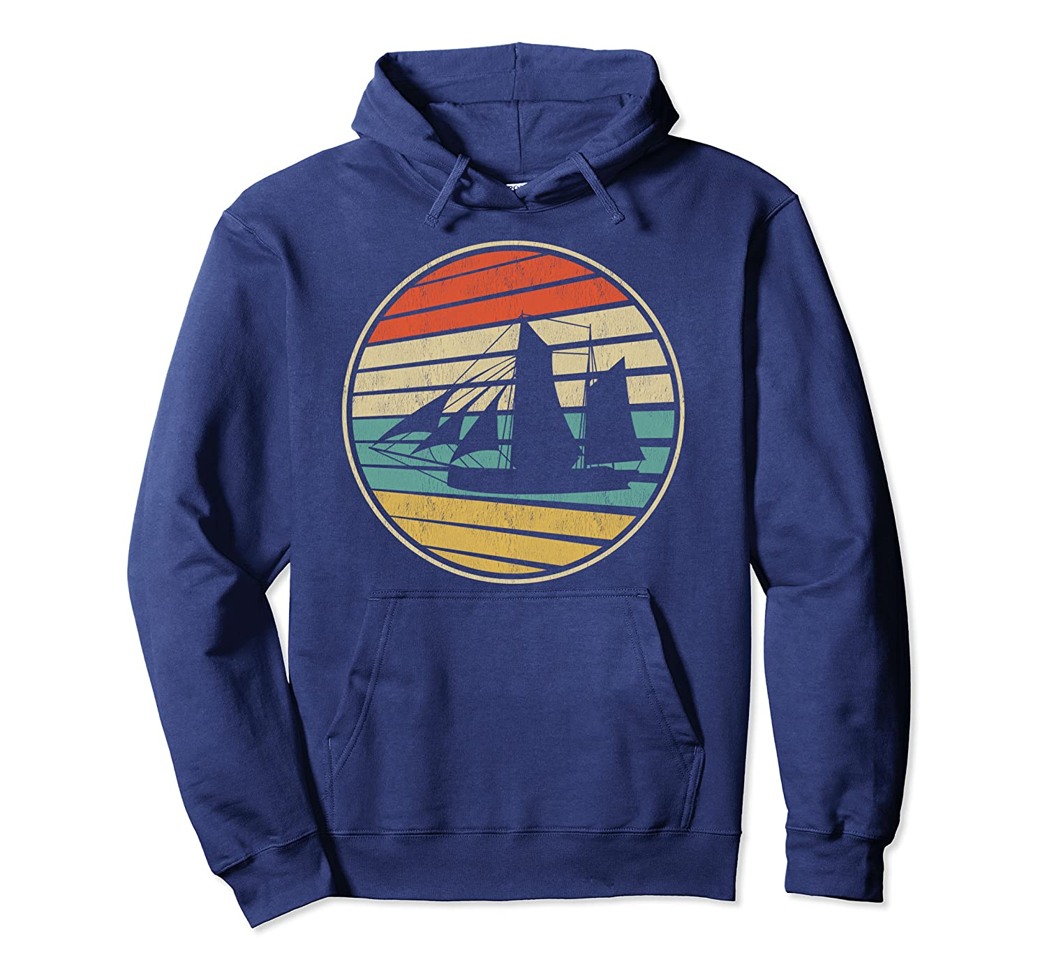 Sailing Vintage Retro 70s 80s Style Sail Boat Lovers Tee Pullover Hoodie-Yolotee