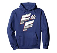Fast Furious Red Outline Steel Logo Pullover Shirts Hoodie Navy