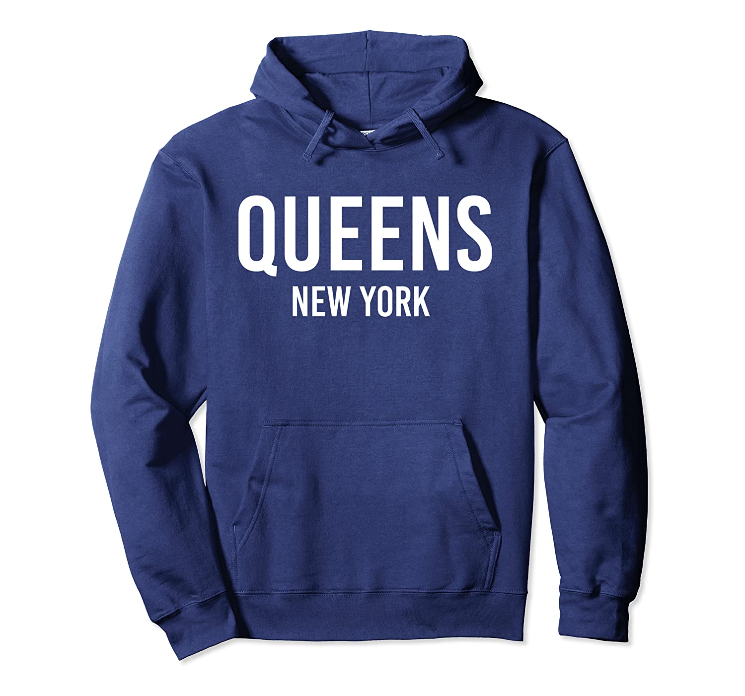 QUEENS NEW YORK NY USA Patriotic Vintage Sports Pullover Hoodie