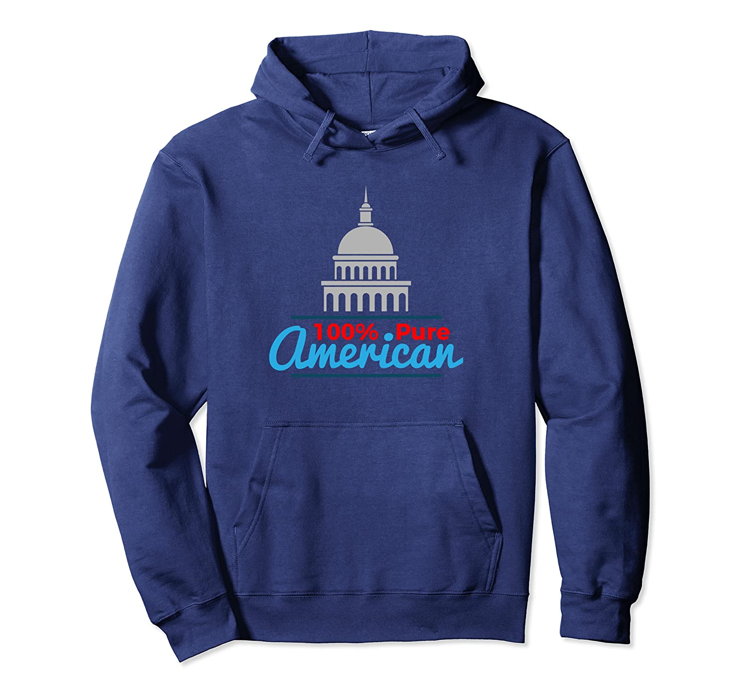 100% Pure American Proud Artwork USA Citizen Gift Pullover Hoodie