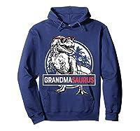 Grandmasaurus T Rex Grandma Saurus Dinosaur Grandmom Shirts Hoodie Navy