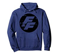 Fast Furious Distressed Circle Logo Pullover Shirts Hoodie Navy