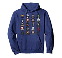 Friends Cartoon Halloween Character Scary Horror Movies Pullover Shirts Hoodie Navy