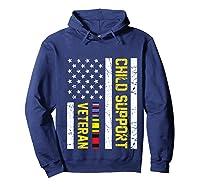 Child Support Veteran Tshirt Veteran Day Gift Pullover  Hoodie Navy