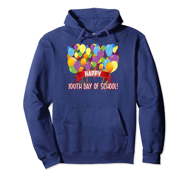 Happy 100th Day Of School Preschool Teachers Cute Gift Pullover Hoodie-Awarplus