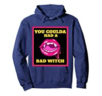 Lips You Coulda Had A Bad Witch Funny Halloween Gift T-shirt Hoodie Navy