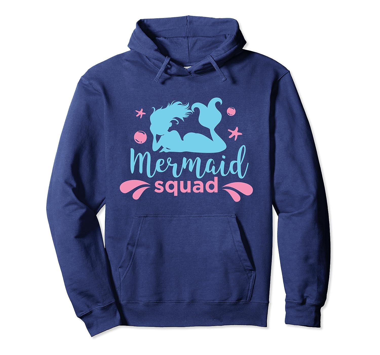 Mermaid Squad Girls Team Bachelorette Party Pullover Hoodie