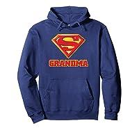 Superman Super Grandma Pullover Shirts Hoodie Navy