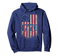 Betsy Ross Shirt 4th Of July American Flag Tshirt 1776 Hoodie Navy