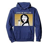 Disney Mulan Living My Best Life T-shirt Hoodie Navy