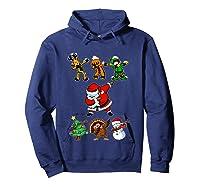 Dabbing Santa Friends Christmas Girls Xmas Gifts Shirts Hoodie Navy