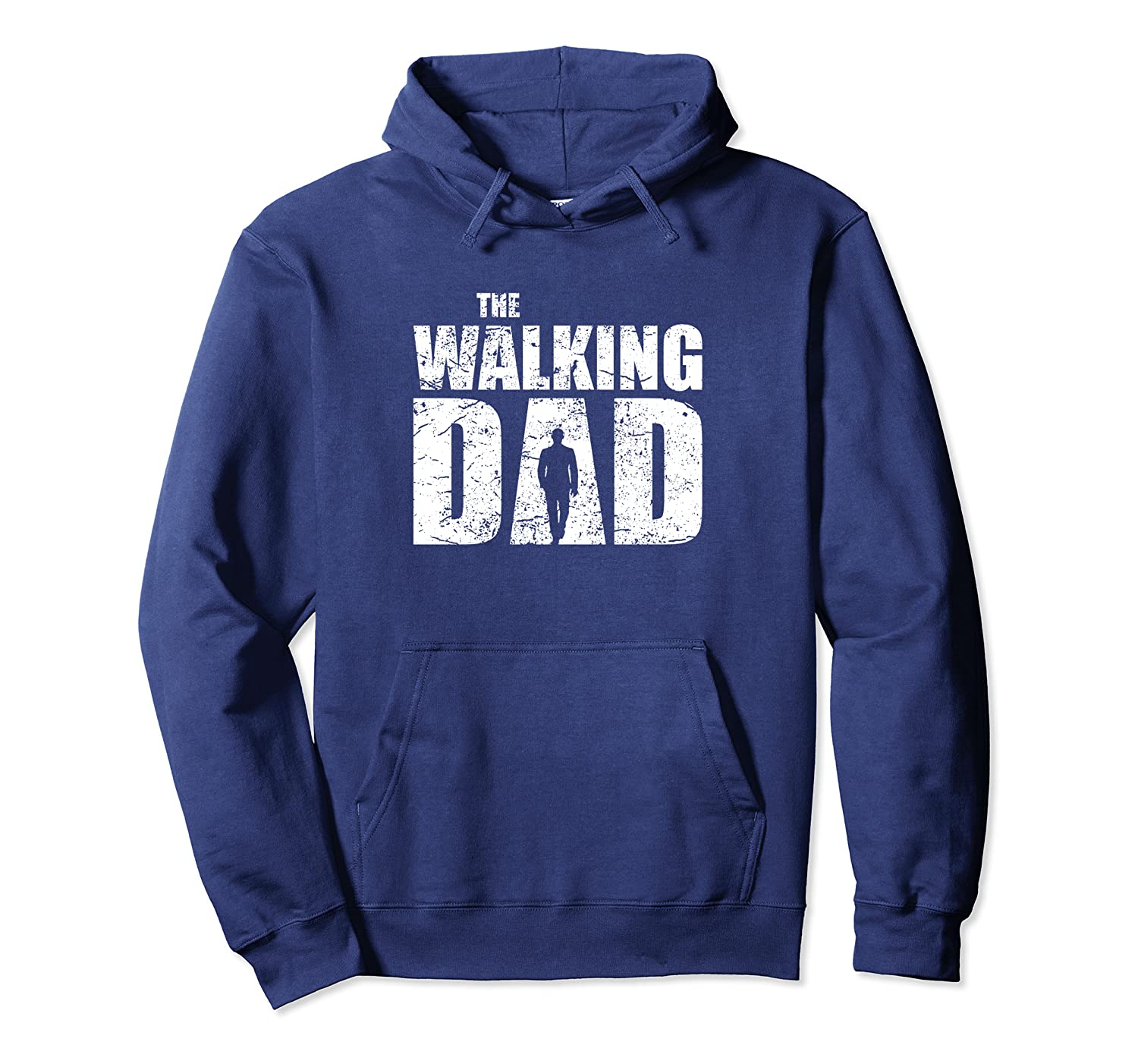 The Walking Dad Father Gifts Man Dead Retro Vintage Men Fun Pullover Hoodie