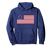 Betsy Ross Flag   1776 American Flag Pullover Shirts Hoodie Navy