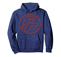 Fast Furious Red Logo Outline Circle Logo Pullover Shirts Hoodie Navy