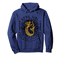 April Girl The Soul Of A Mermaid Tshirt Funny Gifts T Shirt Hoodie Navy
