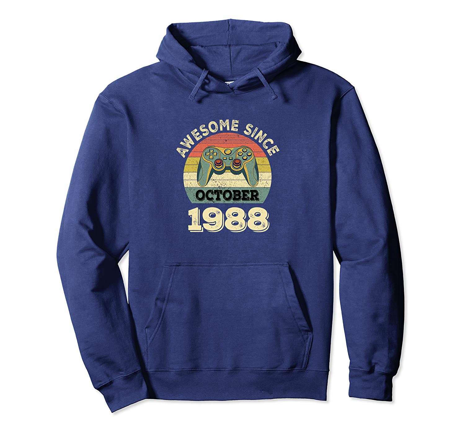Retro Classic Vintage Game October 1988 31st Birthday Pullover Hoodie