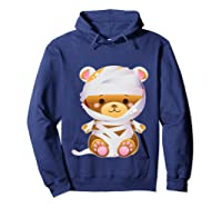 Mummy Bear Halloween Out Costume Party Gifts Pullover Shirts Hoodie Navy