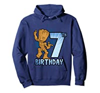Guardians Of The Galaxy Baby Groot 7th Birthday Shirts Hoodie Navy