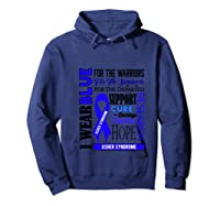 I Wear Blue For The Warriors Usher Syndrome Awareness Pullover Shirts Hoodie Navy