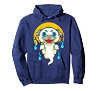 Cute Pug Dog Lover Ghost Funny Halloween Costume Gifts Shirts Hoodie Navy