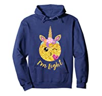 8th Birthday Emoticon Shirt Unicorn 8 Year Girl Sweet Face T-shirt Hoodie Navy