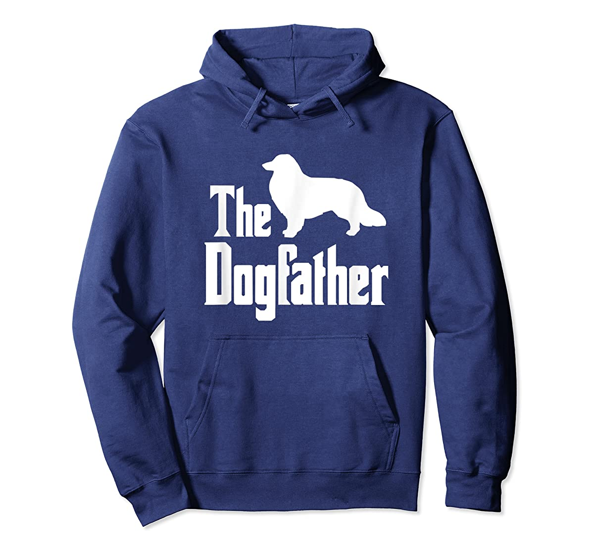 The Dogfather - funny Rough Collie T-Shirt, funny dog gift-Hoodie-Navy