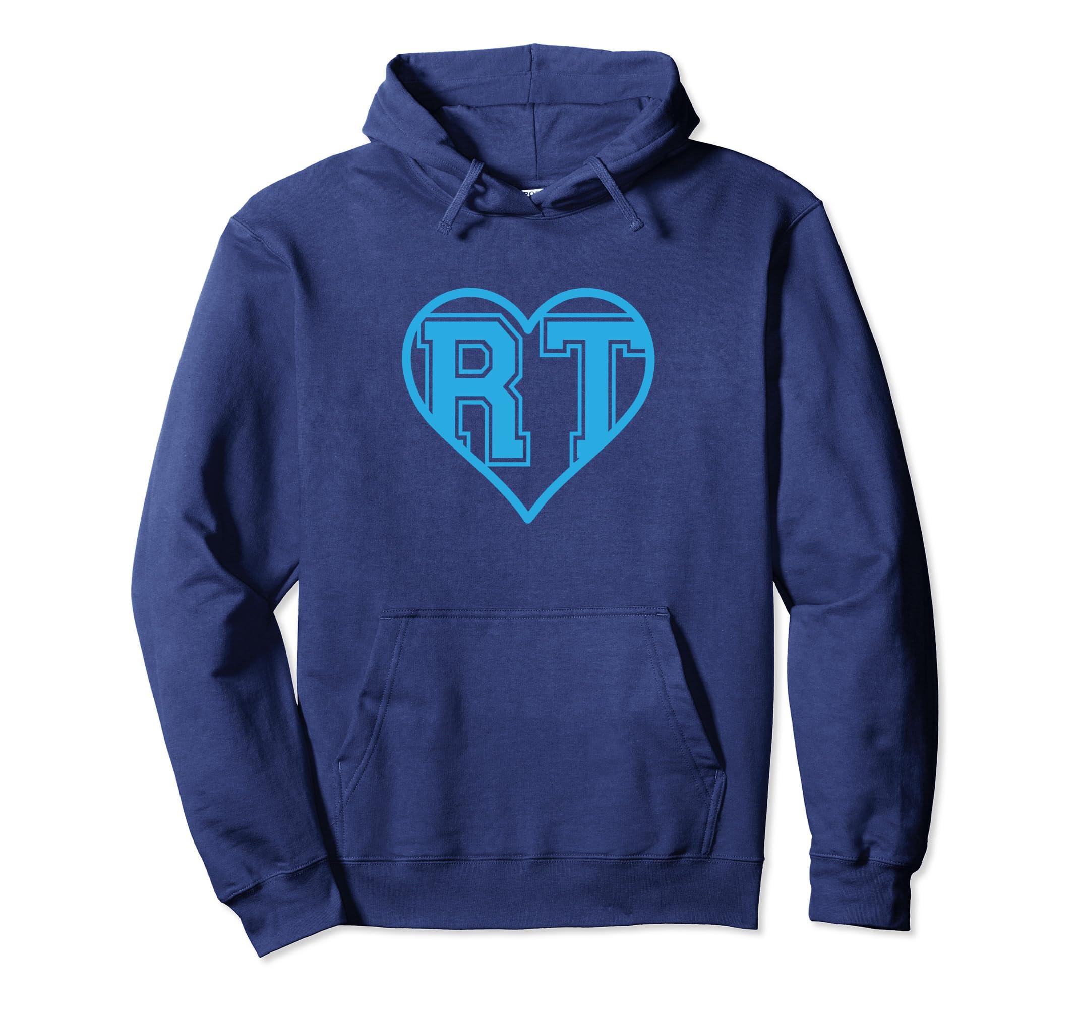 Respiratory Therapist Hoodie Blue RT Heart Gift For RRT-Veotee