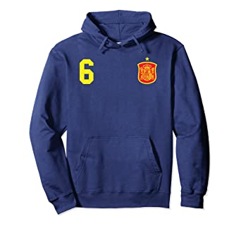Retro Spain Soccer Jersey Espana Futbol Football Hoodie 6