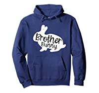 Brother Bunny Cute Rabbit Family Easter Gift Shirts Hoodie Navy