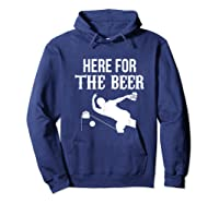 Here For The Beer Bowling For Bowlers Shirts Hoodie Navy