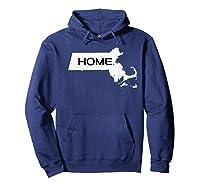Home Massachusetts Shirts Hoodie Navy