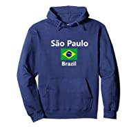 Sao Paulo Brazil Flag City Country Tourist Souvenir Shirts Hoodie Navy