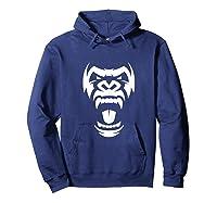 Angry Gorilla Furious Silverback Shirts Hoodie Navy