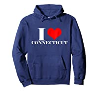 Love Connecticut , Heart Connecticut Usa Shirts Hoodie Navy
