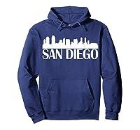 San Diego City Skyline Hot 2019 T Shirt Hoodie Navy