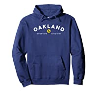 Oakland California Ca Graphic Map Shirts Hoodie Navy